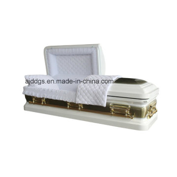White Casket with Gold Brush